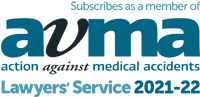 Subscribes as a member of AvMA (Action Against Medical Accidents) Lawyers' Service 2021-22