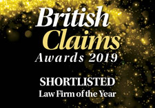British Claims Awards 2019 - Shortlisted - Law Firm of the Year
