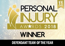Personal Injury Awards 2018 - Defendant Team of the Year
