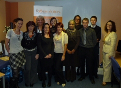 Staff who passed either the Apprenticeship Programme or the Forbes Diploma for Legal Secretaries