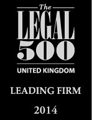 The Legal 500 United Kingdom Leading Firm 2014
