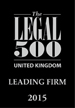 The Legal 500 United Kingdom Leading Firm 2015