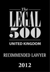 The Legal 500 - Recommended Lawyer 2012