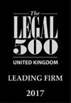 The Legal 500 United Kingdom Leading Firm 2017