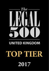 The Legal 500 United Kingdom Top Tier 2017