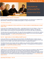 Insurance eNewsletter - September 2014 (21191)