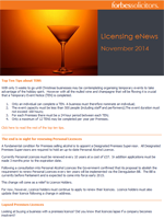 Licensing eNews - November 2014 (23196)