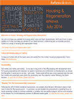 Housing & Regeneration eNews - July 2016 (35480)