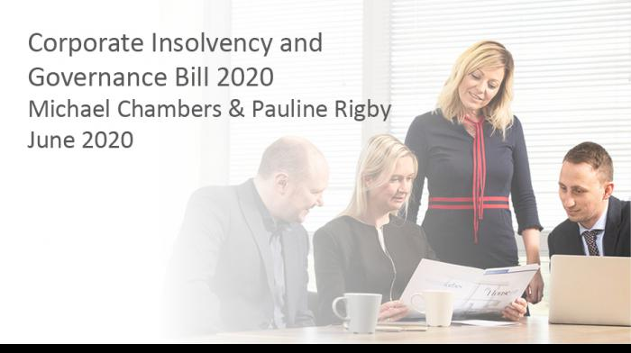 Corporate Insolvency and Governance Bill 2020 - Play video