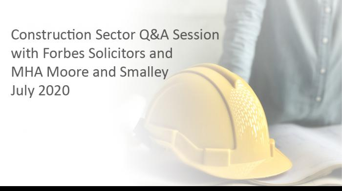 Construction Sector Q&A Session - Play video