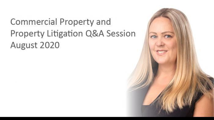 Commercial Property and Property Litigation Q&A Session - Play video
