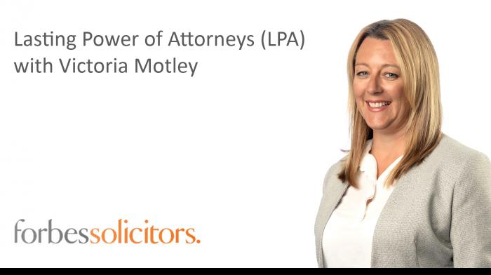 Lasting Power of Attorney (LPA) - Play video