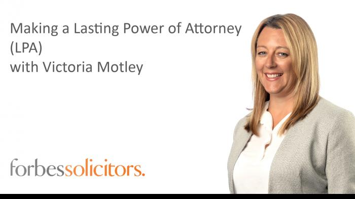 Making a Lasting Power of Attorney (LPA) - Play video